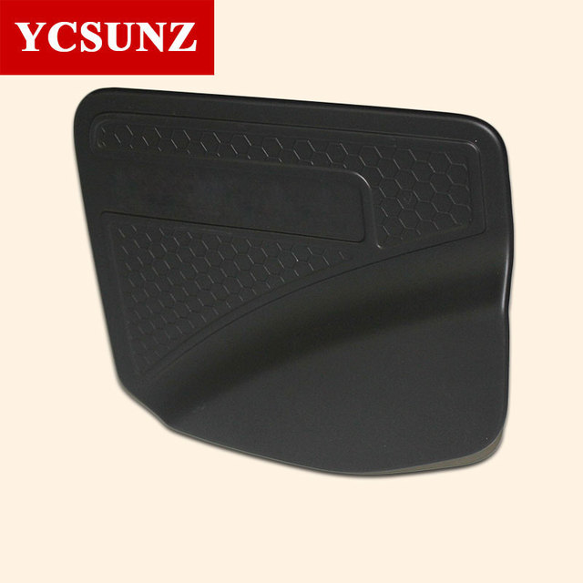 2015-2019 Black Fuel Tank Cover For Nissan Navara 2019 Np300 Accessory ABS Fuel Tank Cover Trim For  Nissan frontier 2016 YCSUNZ