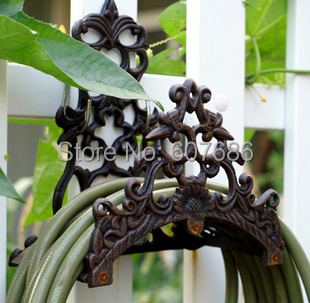Vintage Wall Mounted Hose Holder Cast Iron Hose Hanger Hose Reels Rustic Metal  Garden Yard Decor