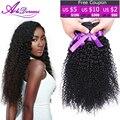 Alidoremi cabelo brasileiro curly virgem cabelo, 4 pcs lote # 1b do cabelo humano tece, cabelo encaracolado brasileiro virgem barato extensões de cabelo onda profunda