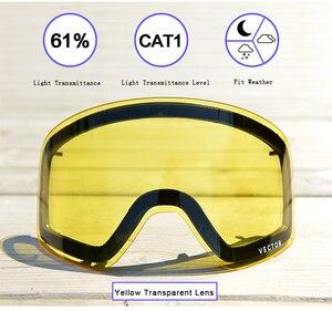 Image 3 - Anti fog UV400 Occhiali Da Sci Occhiali Lenti Luce Debole tinta Tempo Nuvoloso Illuminante Lente Per HB 108 (solo Lente) ACC30019