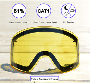 Image 3 - Only Lens For HXJ20011 Anti fog UV400 Skiing Goggles Lens Glasses Weak Light tint Weather Cloudy Brightening