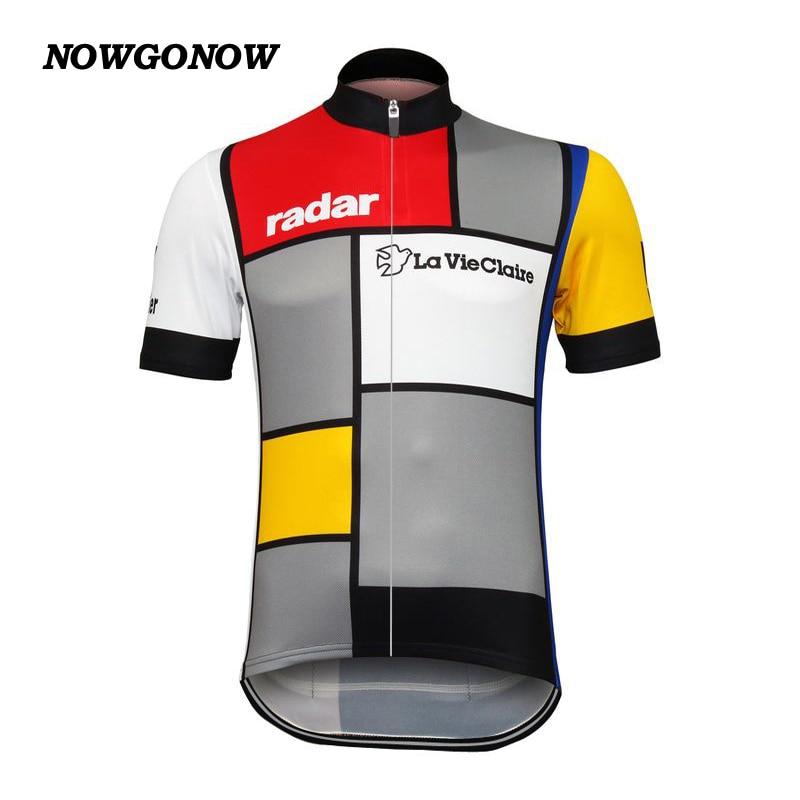 Wholesale custom cycling jersey classic La Vie Claire Wonder W Retro clothing bike wear hot road