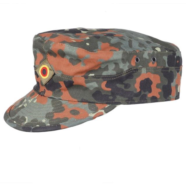 3f042f1cabfec GERMAN ARMY FLECKTARN CAMO MILITARY CAMOUFLAGE FIELD CAP HAT SIZE L - 36297