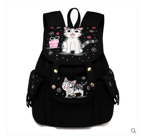 2017 new canvas shoulder bag Korean tide leisure backpack student school bag female personality wild лак toni