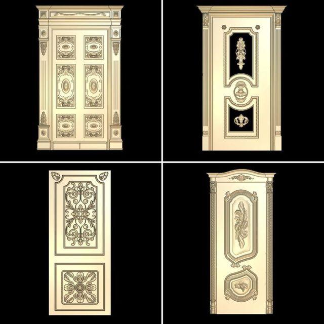 4pcs doors 3d model STL relief for cnc STL format door 3d model for cnc stl & 4pcs doors 3d model STL relief for cnc STL format door 3d model for ...