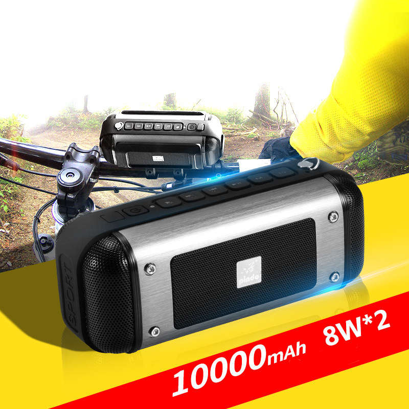 X20 10000mAH 8W*2 Outdoor Cycling Wireless Bluetooth Speaker With FM For Mountain Bike Waterproof Subwoofer For Samsung Iphone wireless bluetooth speaker led audio portable mini subwoofer