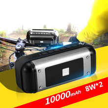 X20 10000mAH 8W*2 Outdoor Cycling Wireless Bluetooth Speaker With FM For Mountain Bike Waterproof Subwoofer For Samsung Iphone