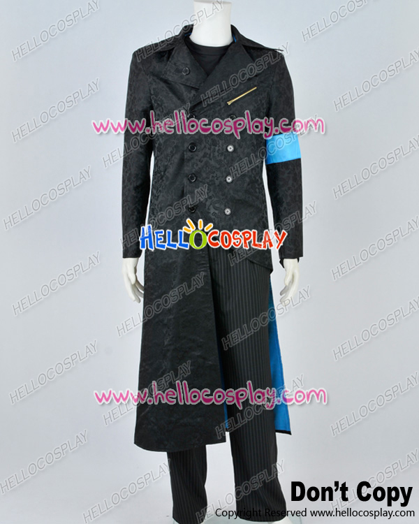Devil May Cry DMC 5 Cosplay Vergil Black Trench Coat Costume H008