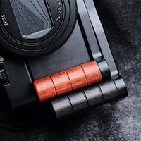 Original Quick Release L Plate / L Bracket Wooden Hand Grip Holder Aluminum Base Fit For Sony RX100 M6 M5