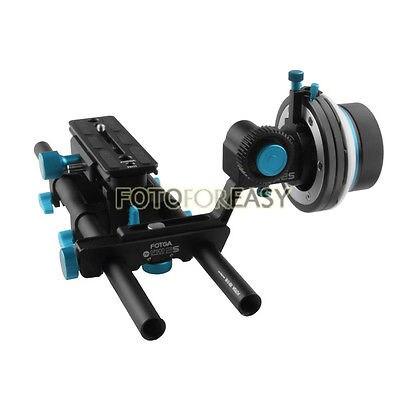 FOTGA QR DP500IIS DSLR Follow Focus A/B Hard Stops+DP3000 15mm Rod Baseplate Rig