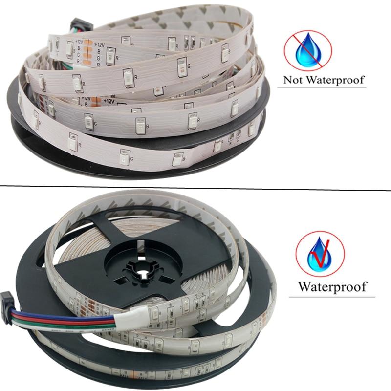 LED traka 5M RGB LED svjetlo RGB LED traka fleksibilna DC12V - LED Rasvjeta - Foto 3