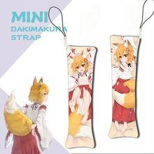 Porte-clés Mini Dakimakura Sewayaki Kitsune no senko-san, Mini oreiller suspendu, décoration, sangle de téléphone, 1 pièces