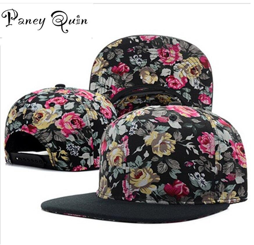 Gros casquettes de baseball chapeau femmes hommes fleur snapback chapeaux cassent dos marque Réglable de mode baseball hip hop cap chapeaux de soleil