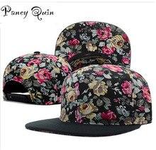 Оптовая бейсболки шляпа женщины мужчины цветок snapback шляпы оснастку спиной бренд Регулируемая мода бейсбол хип-хоп cap шлемов sun