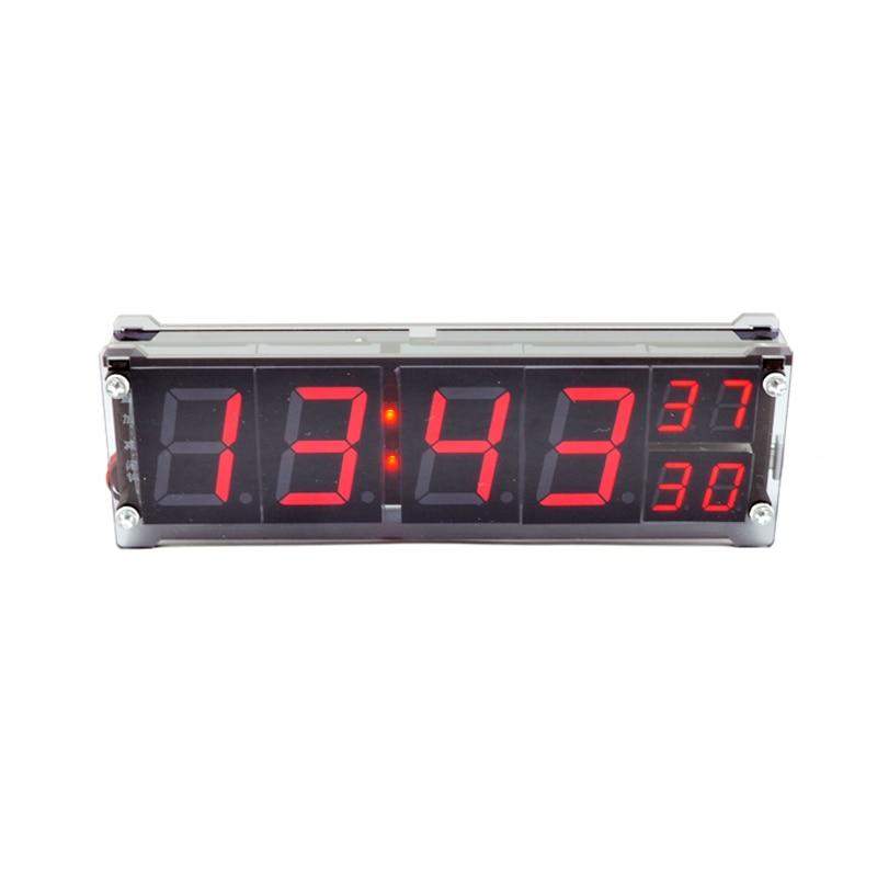 Простой автомобиля Часы Термометры 1.2 дюйма Красный светодиодный цифровой трубки светодиодный световой характер Micro USB часы ...
