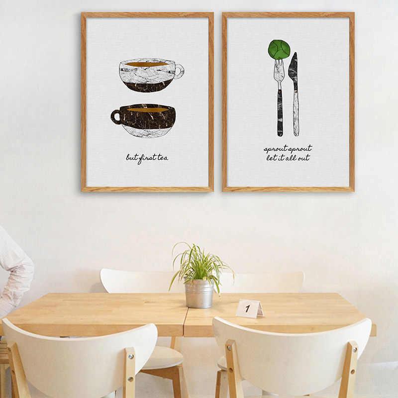 الرجعية ملصق جدار الفن قماش طباعة الحد الأدنى مجردة اللوحة الشمال الديكور الغذاء الصورة ل غرف السفرة غرفة ديكور