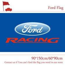 Free shipping 90x150cm 60x90cm Ford Car Flag Polyster Digital Print