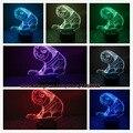 Criativo Zootopia preguiça flash figuras 3D CONDUZIU a lâmpada de mesa brinquedos Novo 7 mudando a cor Atmosfera ilusão Visual Bulbificação Iluminação