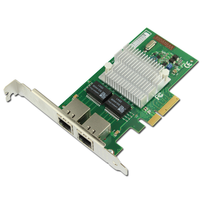 PCIe X4 Dual Port Gigabit Ethernet Adapter NIC Card NH82580DB Chipset I340T2 ROS объявления стенд