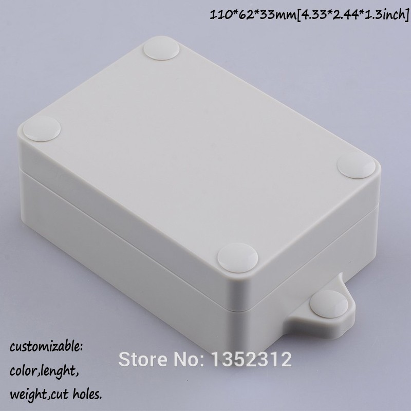 5 pcs/lot 110*62*33mm IP68 plastic waterproof enclosure junction box for electronic housing DIY project box distribution box