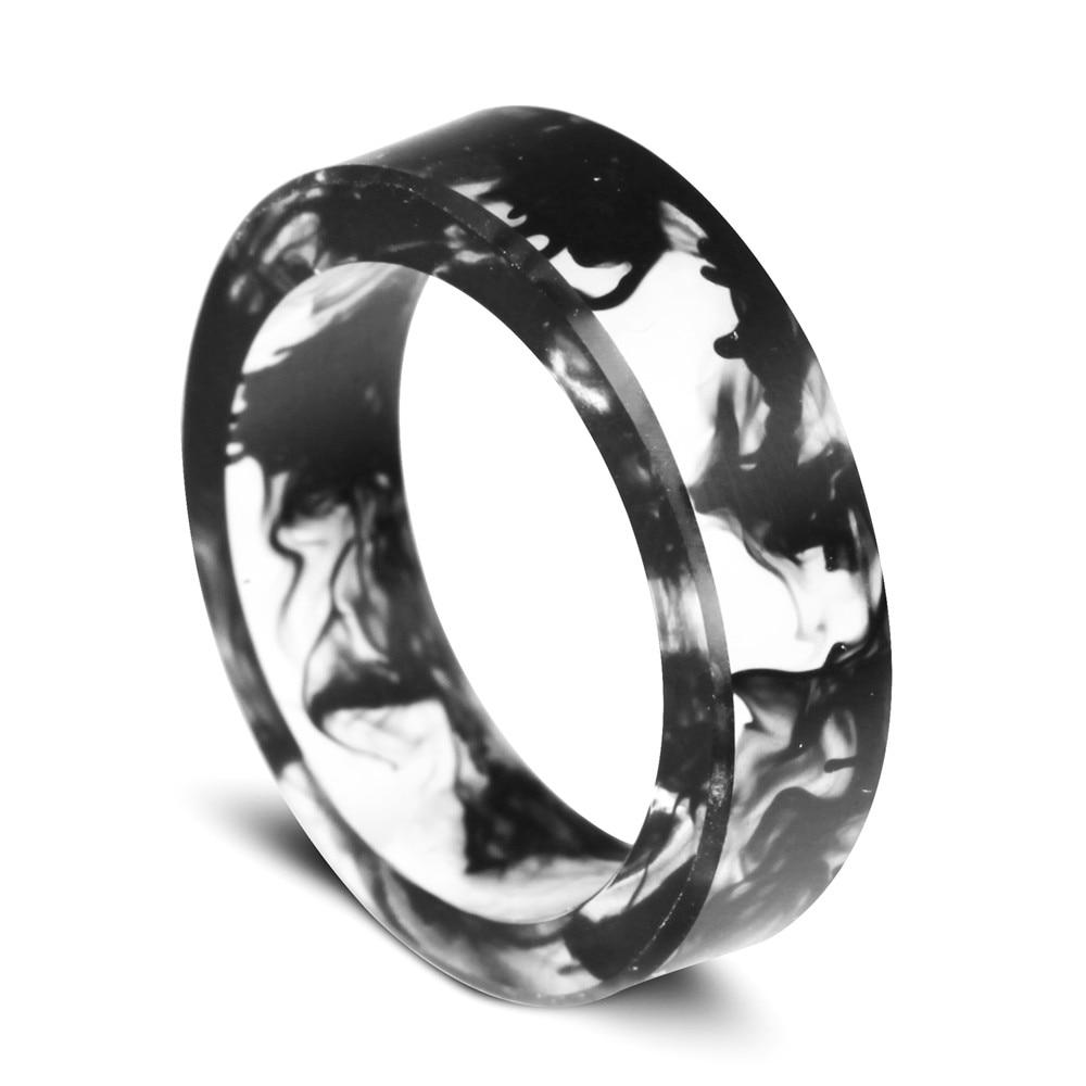 a1f4241acd25 € 9.91 |6mm anillo hecho a mano de resina azul transparente anillo niebla  dentro de el secreto WeddingJewelry Anillos magia hombre mujer en Anillos  ...