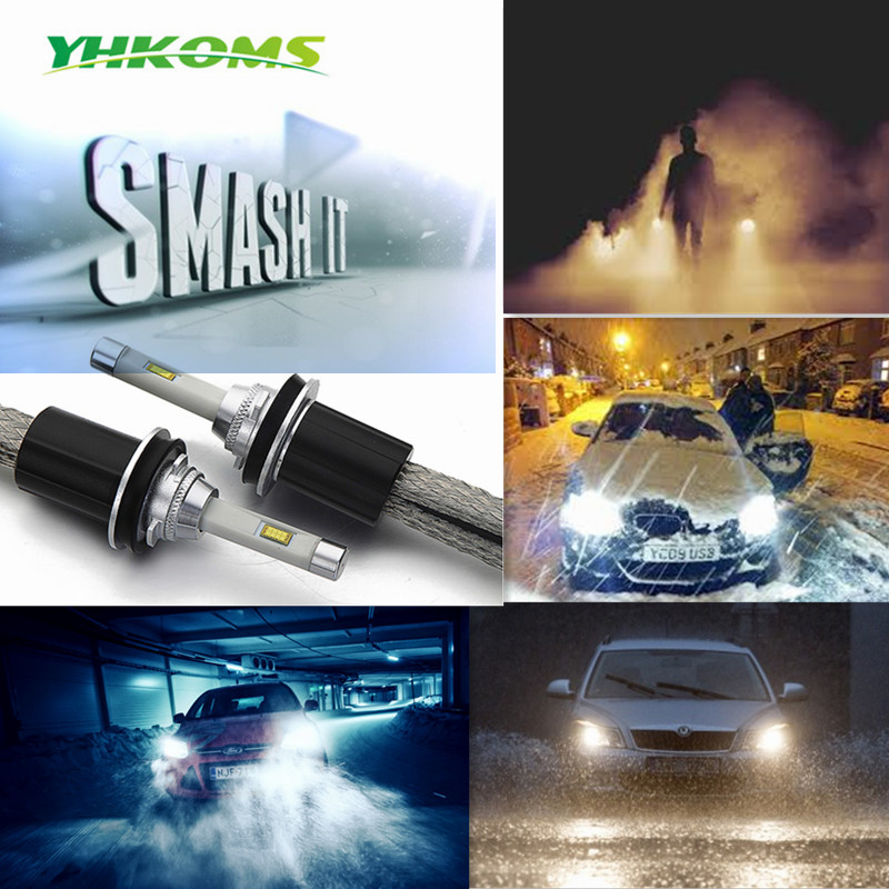 YHKOMS automobiliniai LED žibintai H4 H7 LED H8 H9 H11 9005 / HB3 - Automobilių žibintai - Nuotrauka 6