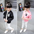 2016 новый детская одежда и аксессуары мальчик девочка Балахон Цифровой Бейсбол Куртка молнии кардиган SY381