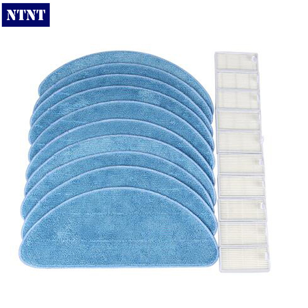 NTNT Free Shipping Vacuum Cleaner Accessories Pack for ECOVACS CR120 X600 for ilife v5 x5 panda x500 Hepa Cleaning cloth юбки vila joy юбка