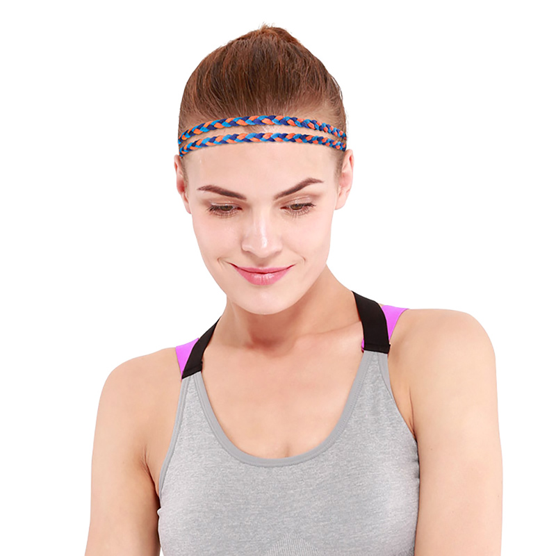 Aolikes 50-60cm Sports Headband Anti-Slip Elastic Rubber Sweatband Yoga Tennis Badminton Running Cycling Hairband