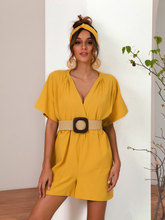 Solid Casual V-neck Belt Rompers Women's Jumpsuit 2019 Summer Slim Shorts Playsuit High Waist Sexy Elegant Overalls