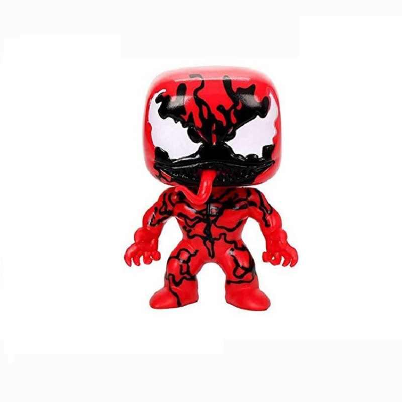 POPPEN Venom Spiderman Figuras de Ação Brinquedos Modelo Dolls Deadpool Cosplay Venompool Luminosa Decoração brinquedo Na Caixa Frete Grátis