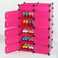 DIY 6 Layer Double Row Covered Shoes Rack Home Furniture  Cabinet Closet
