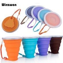 4 цвета, 250 мл, силиконовая чашка для путешествий, Выдвижная складная чашка для кофе, телескопическая складная чашка для чая, для спорта на открытом воздухе, тур, чашка для воды