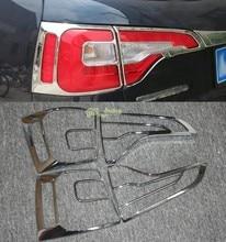 4 шт. высокое качество ABS Автомобилей Хвост Сзади Противотуманные Фары Лампы Рамка Обложка Отделка Chrome для Kia Sorento 2013 2014