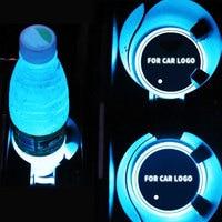 YONGXUN 2PCS Car LED Light Lamp Cup Holder Mat Pad Bottle Drinks Built In Vibration Car