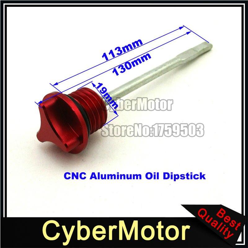CNC Aluminum Red Oil Dipstick Engine Dip Stick For Lifan YX 125cc 140cc 150cc 160cc 200cc 250cc Chinese Pit Dirt Bike ATV Quad