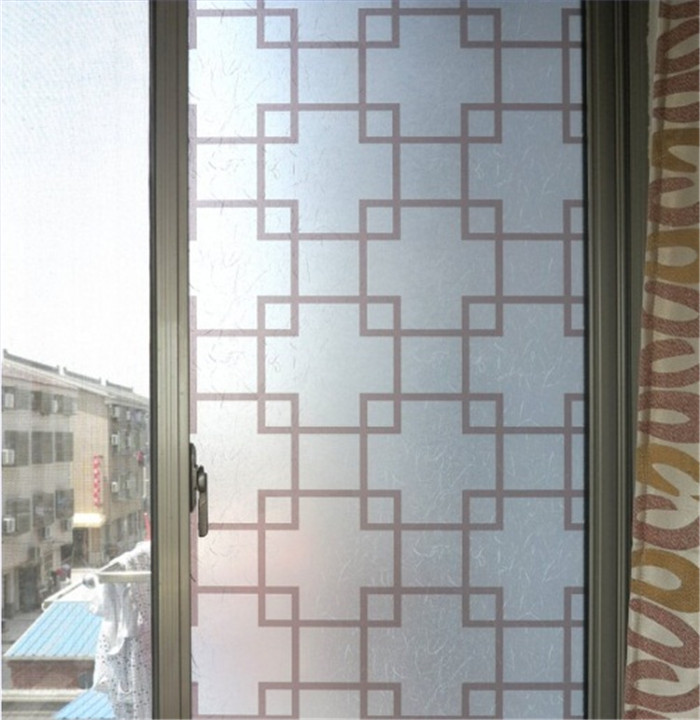 Self adhesive 50cm x 300cm China style frosted bathroom Glass ...