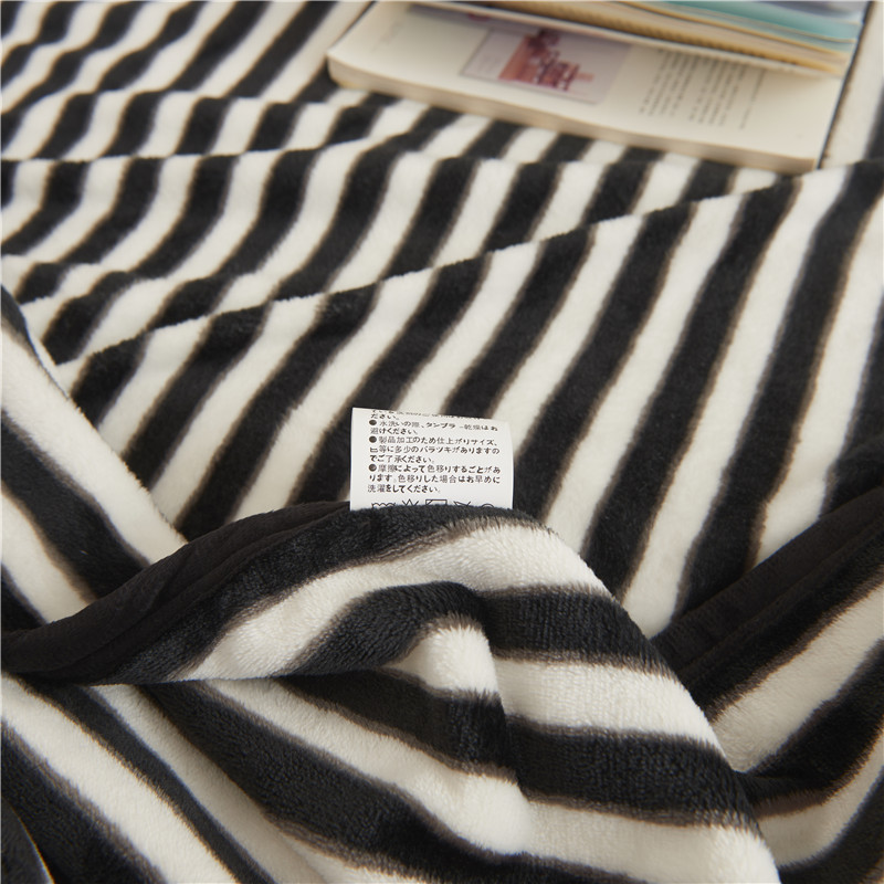 Black And White Striped Bedding Kids Throw Blankets For Beds Travel Classy Black And White Striped Throw Blanket