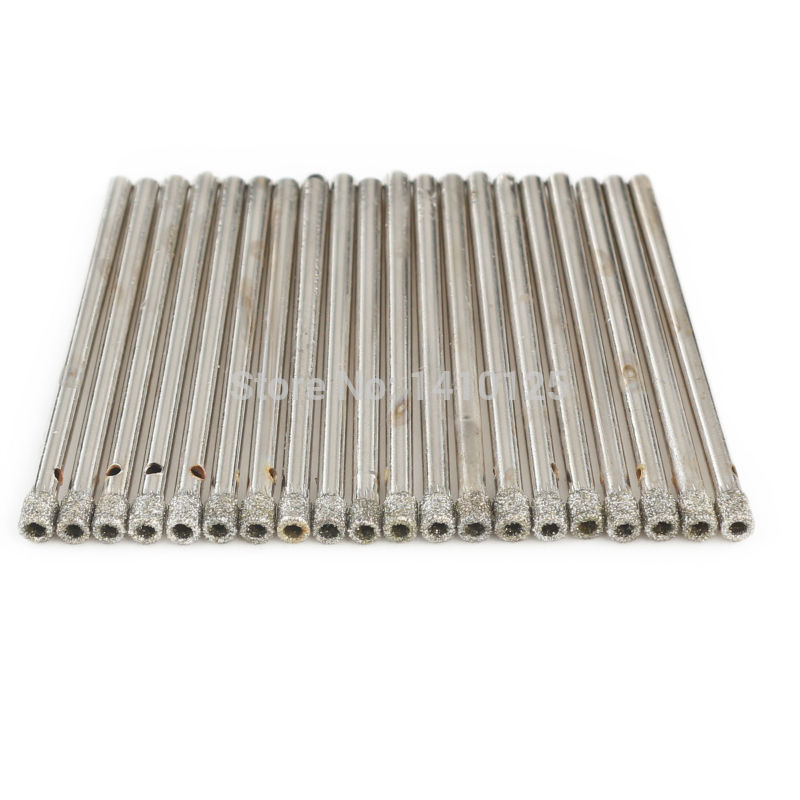 20Pcs 3mm 1/8 inch Coated Diamond Hole Saw Core Drill Bit Masonry Drilling Cutter for Glass Marble Tile Granite Gemstone Tools 14pcs set diamond coated hole saw core drill bit tile marble glass ceramic set 3 70mm durable in use metal drilling best price