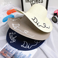 Letters embroidered hats Large brimmed sun hat Summer beach hat for Women collapsible cap