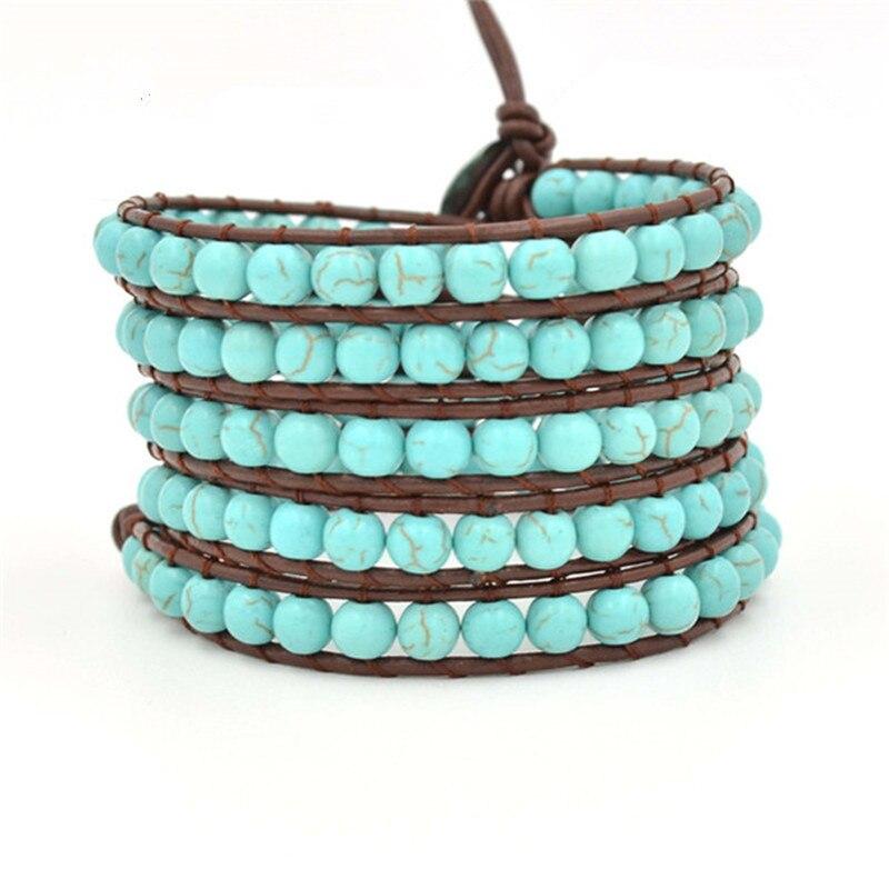 Hommes bijoux En Cuir bracelet Multicouche hommes perles bracelets charme bracelets et bracelets bracelet en silicone libre JBN-8850