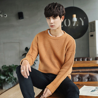 2017 New Arrival Style men's fashion casual knitwear high quality fashion neck Pullover solid men long sleeved sweater M 2XL