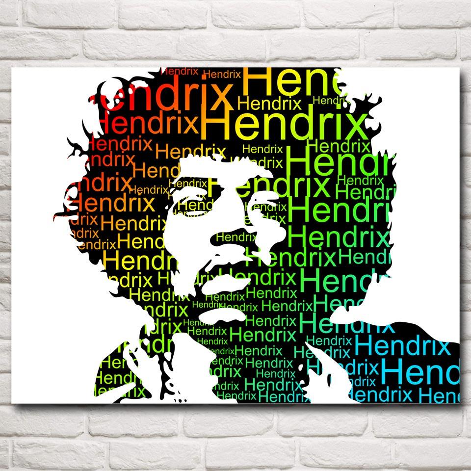 Musiker Jimi Hendrix Sänger Art Silk Poster Drucken Home Wand dekor ...