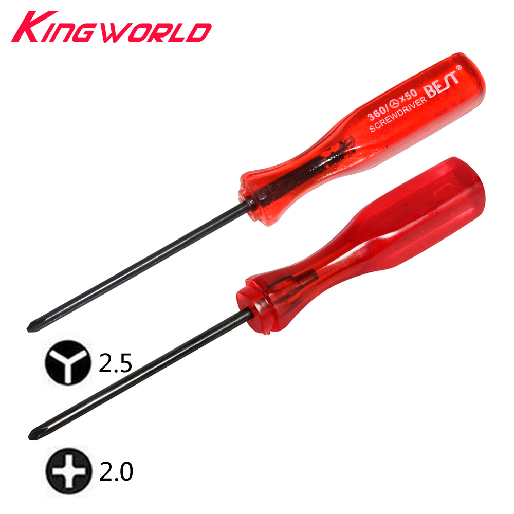 1sets Tri Wing Y Triangular + Cross Tip Screwdriver For W-ii N-DS Lite N-ES For G-ameboy Advance SP