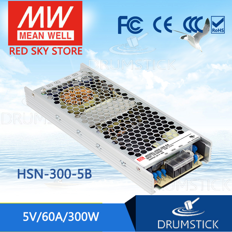 все цены на 100% Original MEAN WELL HSN-300-5B 5V 60A meanwell HSN-300 5V 300W Single Output Switching Power Supply онлайн