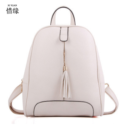 XIYUAN marque multicolore femmes pu cuir sacs à dos adolescente élégant école sac à dos noir impression sac à dos masculina blanc