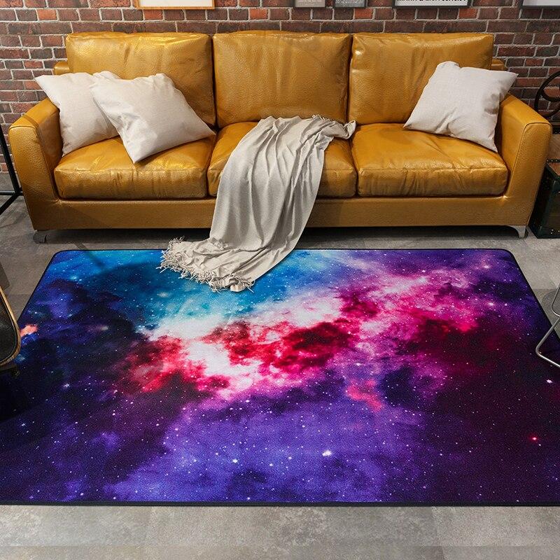 Bunte Galaxy Teppiche Satellite Raum Universal Muster Bereich Teppich Rutschfeste Tr Bodenmatte Fr Schlafzimmer Wohnzimmer