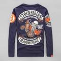 Оригинальный Дизайн Навсегда Два Колеса Tatoo Печатных Мужчины Винтаж Рок & Ролл Harley Мотоцикл Сообщение Крови Группа Майка Футболка 4XL