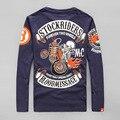 O Projeto Original Para Sempre Duas Rodas Tatoo Impresso Homens Do Vintage Rock & Roll Harley Motocicleta Mensagem Sangue Banda T Shirt T-Shirt 4XL