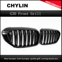 For G30 M5 Style Kidney ABS and carbon fiber Plastic Auto Car styling Front Racing Grille for BMW G30 G38 New 5 Series 2017up